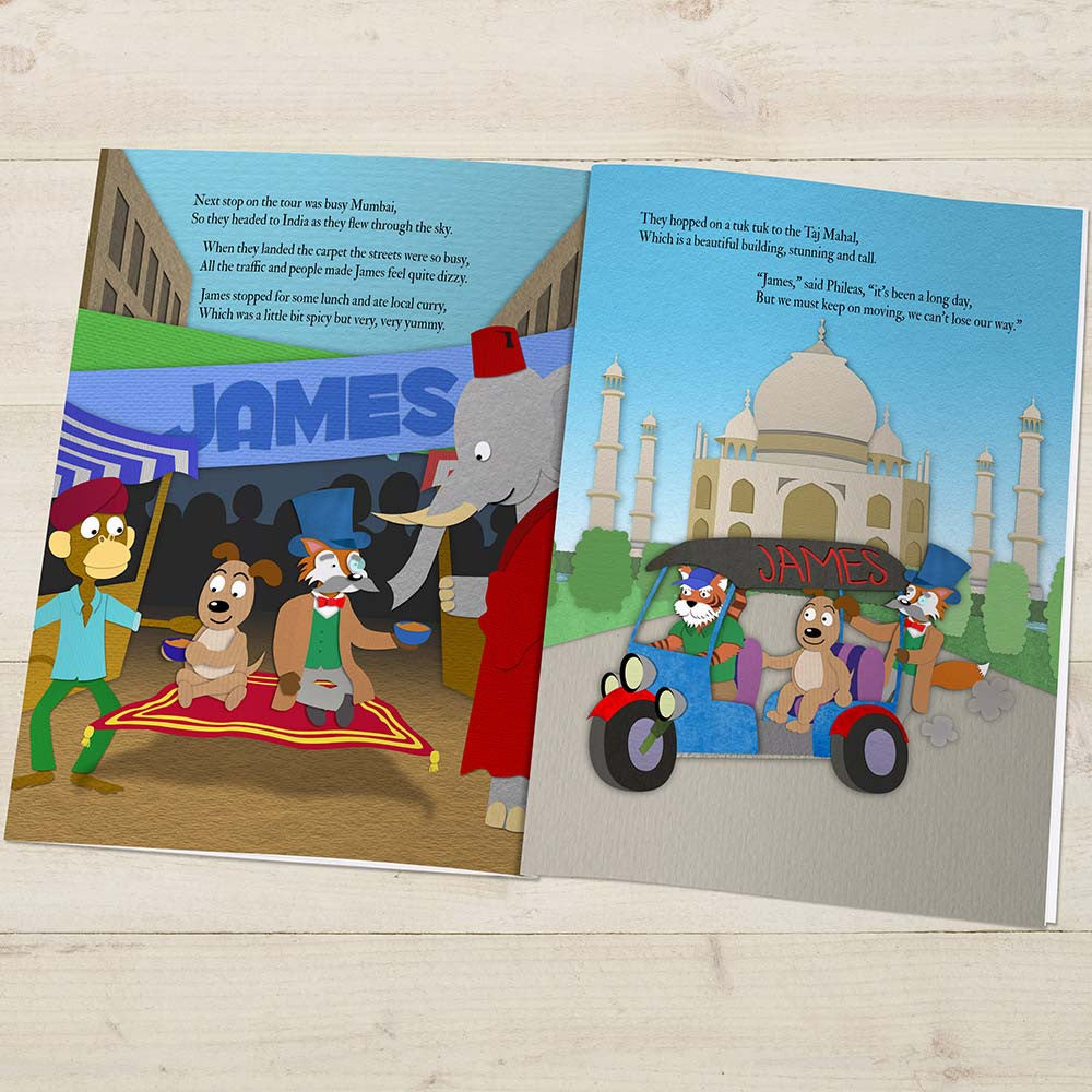 Personalised Around the World Story Book - Personalised Gift Solutions - 2