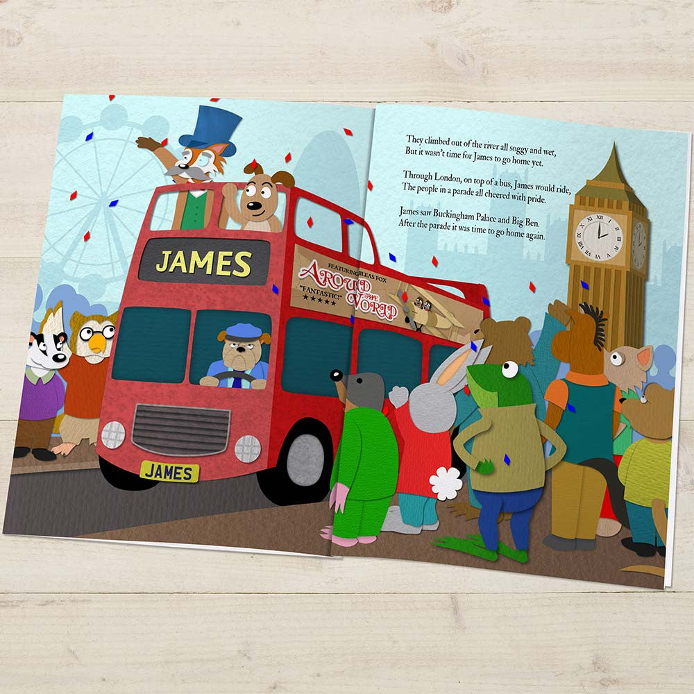 Personalised Around the World Story Book - Personalised Gift Solutions - 4