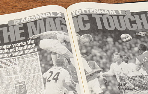 Personalised Arsenal V Spurs Derby Football Newspaper Book - Personalised Gift Solutions - 5