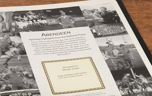 Personalised Aberdeen Football Newspaper Book - Personalised Gift Solutions - 4