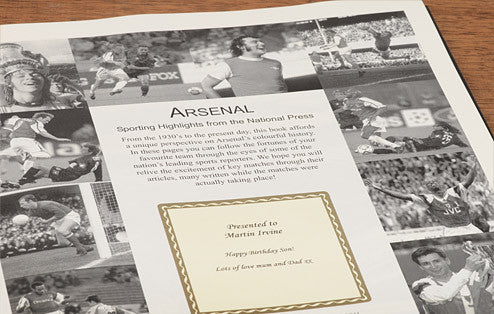 Personalised Arsenal Football Newspaper Book - Personalised Gift Solutions - 4
