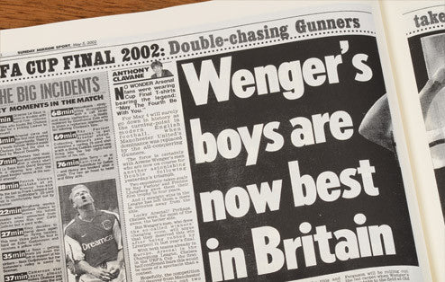 Personalised Arsenal Football Newspaper Book - Personalised Gift Solutions - 6