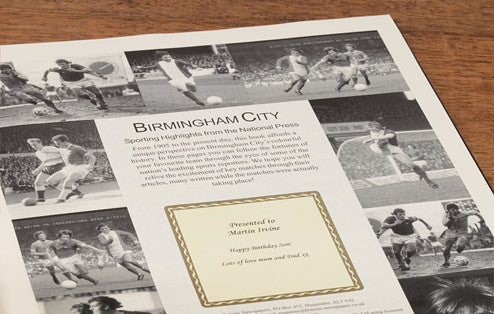 Personalised Birmingham Football Newspaper Book - Personalised Gift Solutions - 3