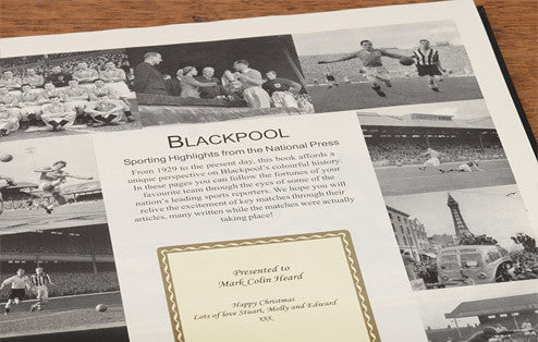 Personalised Blackpool Football Newspaper Book - Personalised Gift Solutions - 3