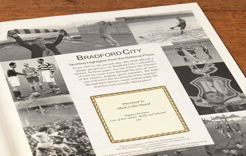 Personalised Bradford Football Newspaper Book - Personalised Gift Solutions - 2