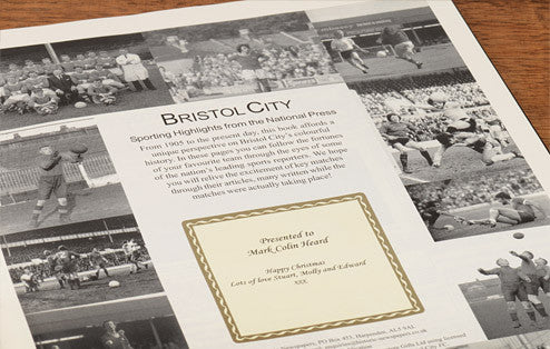 Personalised Bristol City Football Newspaper Book - Personalised Gift Solutions - 2