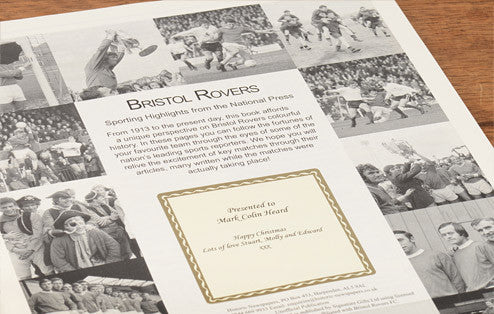 Personalised Bristol Rovers Football Newspaper Book - Personalised Gift Solutions - 3