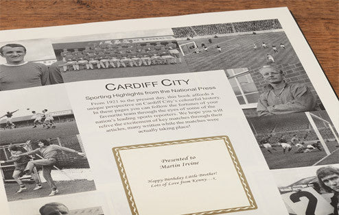 Personalised Cardiff Football Newspaper Book - Personalised Gift Solutions - 3