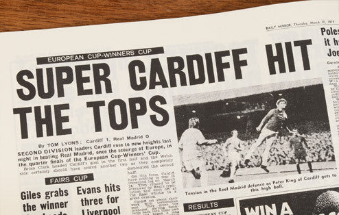 Personalised Cardiff Football Newspaper Book - Personalised Gift Solutions - 5