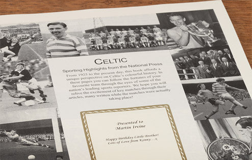 Personalised Celtic Football Newspaper Book - Personalised Gift Solutions - 3