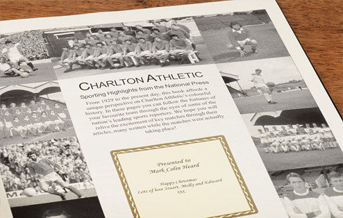 Personalised Charlton Football Newspaper Book - Personalised Gift Solutions - 2