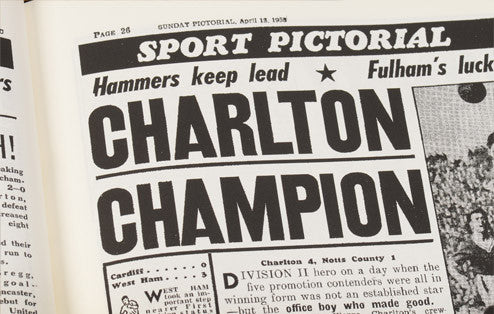 Personalised Charlton Football Newspaper Book - Personalised Gift Solutions - 4