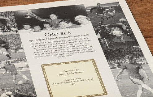 Personalised Chelsea Football Newspaper Book - Personalised Gift Solutions - 3