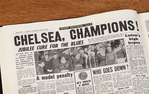 Personalised Chelsea Football Newspaper Book - Personalised Gift Solutions - 5