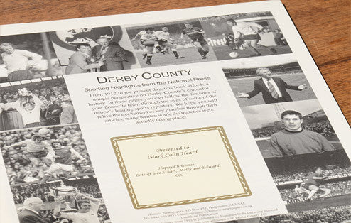 Personalised Derby Football Newspaper Book - Personalised Gift Solutions - 2