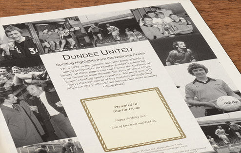 Personalised Dundee Utd Football Newspaper Book - Personalised Gift Solutions - 2