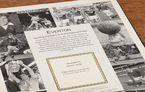 Personalised Everton Football Newspaper Book - Personalised Gift Solutions - 2