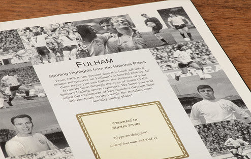 Personalised Fulham Football Newspaper Book - Personalised Gift Solutions - 3