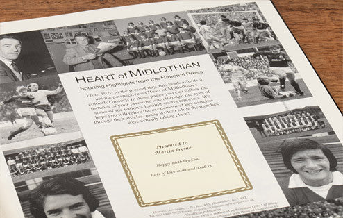 Personalised Hearts Football Newspaper Book - Personalised Gift Solutions - 3