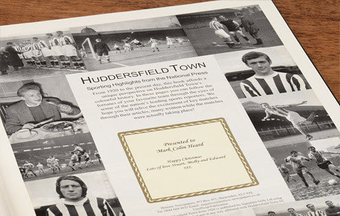 Personalised Huddersfield Football Newspaper Book - Personalised Gift Solutions - 3
