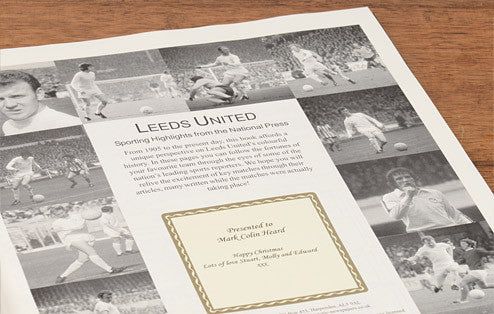Personalised Leeds Football Newspaper Book - Personalised Gift Solutions - 2