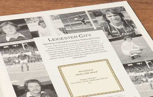 Personalised Leicester Football Newspaper Book - Personalised Gift Solutions - 2