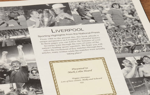 Personalised Liverpool Football Newspaper Book - Personalised Gift Solutions - 2