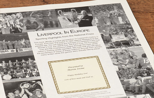 Personalised Liverpool Europe Football Newspaper Book - Personalised Gift Solutions - 2