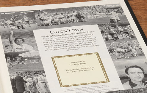 Personalised Luton Football Newspaper Book - Personalised Gift Solutions - 2