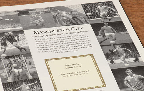 Personalised Manchester City Football Newspaper Book - Personalised Gift Solutions - 2