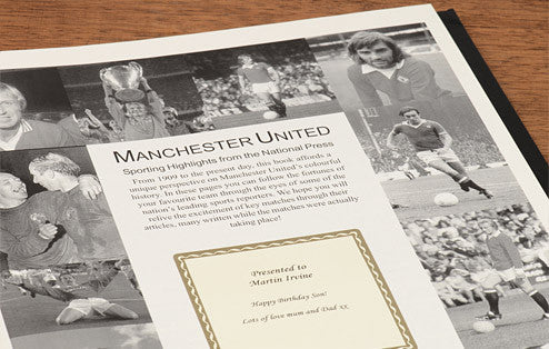 Personalised Manchester Utd Football Newspaper Book - Personalised Gift Solutions - 2