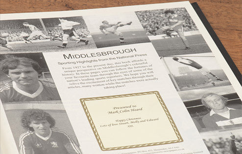 Personalised Middlesbrough Football Newspaper Book - Personalised Gift Solutions - 3
