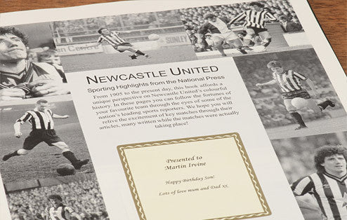 Personalised Newcastle Football Newspaper Book - Personalised Gift Solutions - 3