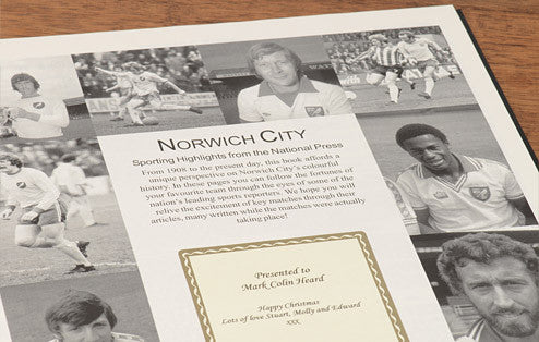 Personalised Norwich Football Newspaper Book - Personalised Gift Solutions - 2