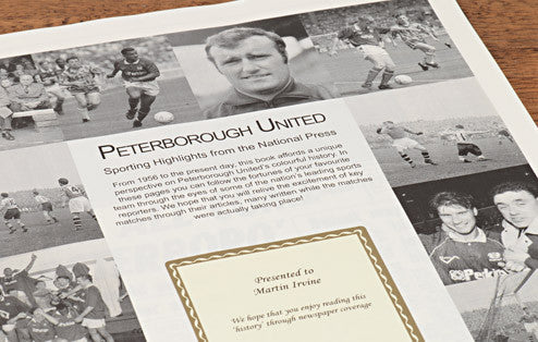 Personalised Peterborough Football Newspaper Book - Personalised Gift Solutions - 2