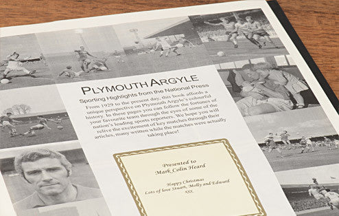 Personalised Plymouth Football Newspaper Book - Personalised Gift Solutions - 2