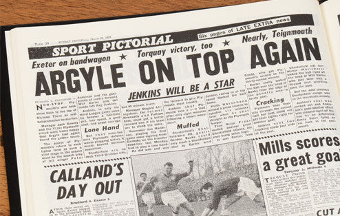 Personalised Plymouth Football Newspaper Book - Personalised Gift Solutions - 4