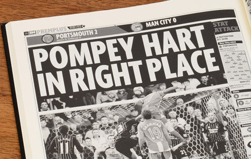 Personalised Portsmouth Football Newspaper Book - Personalised Gift Solutions - 6