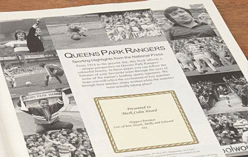 Personalised QPR Football Newspaper Book - Personalised Gift Solutions - 3