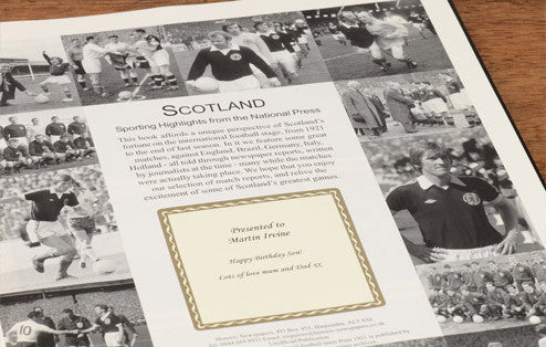 Personalised Scotland Football Newspaper Book - Personalised Gift Solutions - 3