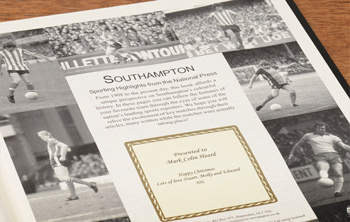 Personalised Southampton Football Newspaper Book - Personalised Gift Solutions - 3