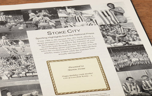 Personalised Stoke Football Newspaper Book - Personalised Gift Solutions - 2