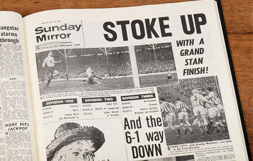 Personalised Stoke Football Newspaper Book - Personalised Gift Solutions - 4