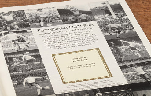 Personalised Tottenham Football Newspaper Book - Personalised Gift Solutions - 2
