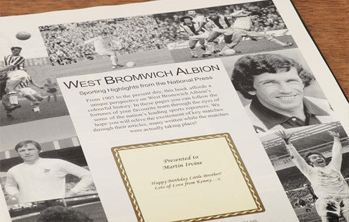 Personalised WBA Football Newspaper Book - Personalised Gift Solutions - 3