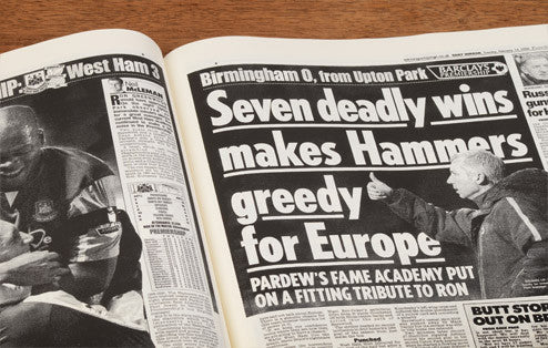 Personalised West Ham Football Newspaper Book - Personalised Gift Solutions - 5