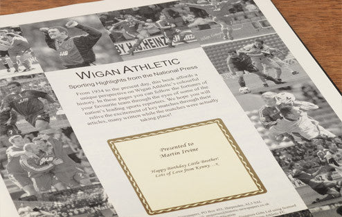 Personalised Wigan Football Newspaper Book - Personalised Gift Solutions - 2
