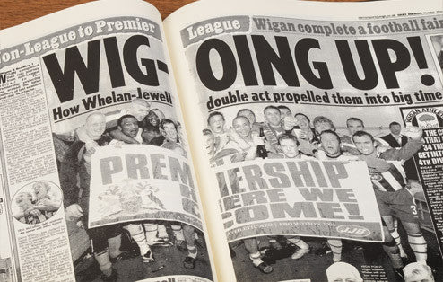 Personalised Wigan Football Newspaper Book - Personalised Gift Solutions - 5
