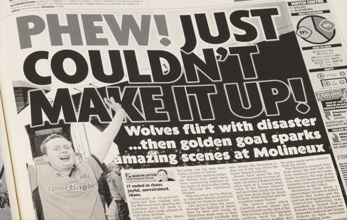 Personalised Wolves Football Newspaper Book - Personalised Gift Solutions - 5