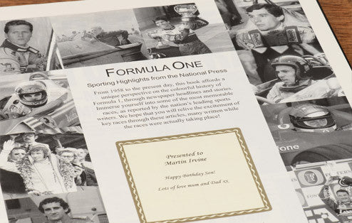 Personalised Formula One Newspaper Book - Personalised Gift Solutions - 2